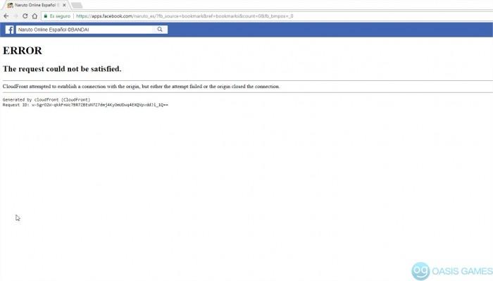 Naruto Online Español ©BANDAI en Facebook - Google Chrome
