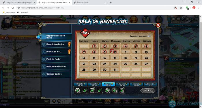 Juego oficial de página de Naruto español - Google Chrome 10-10-2018 0_12_14