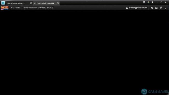 pantalla en negro Mini login nuevo